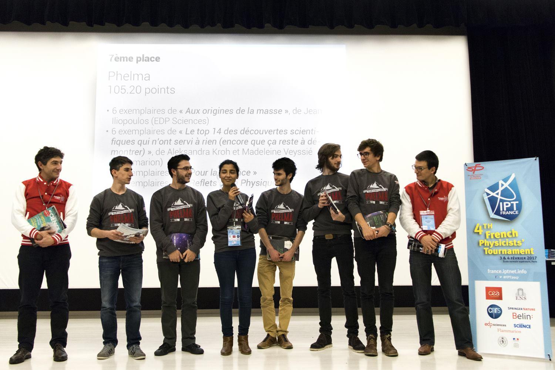 Phelma au French Physicists' Tournament 2017