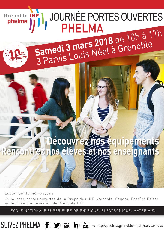 Phelma Journée Portes Ouvertes - 3 mars 2018