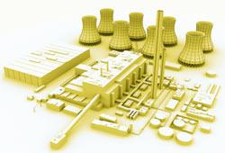 Maquette de centrale nucléaire