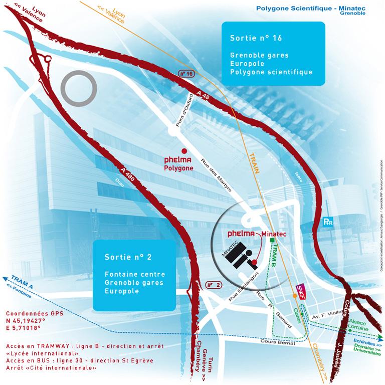 Plan d'accès Phelma Minatec