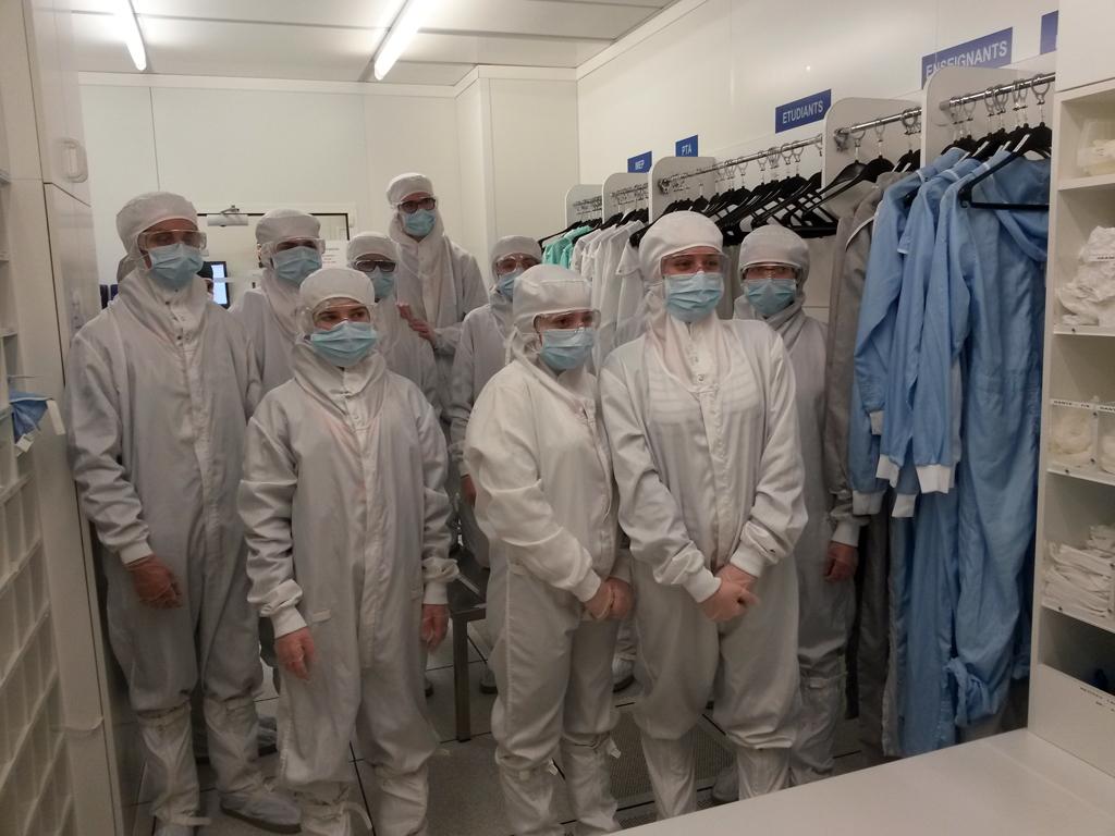 Inn.0 Tech 2017 > atelier Grenoble INP > Salle blanche au CIME Nanotech